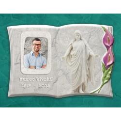 Libro Funebre in porcellana serie Calla Lilla in hd