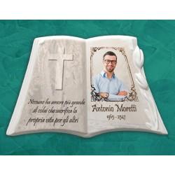 Libro Funebre in porcellana serie Tulip Bianco in hd