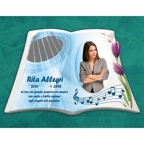 Libro Funebre in porcellana serie Tulip Lilla in hd