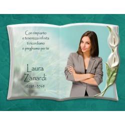 Libro Funebre in porcellana serie Calla Perla in hd
