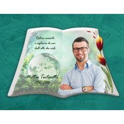 Libro Funebre in porcellana serie Tulip Rosso in hd